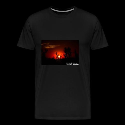 Sonnenuntergang Silhouette - Männer Premium T-Shirt