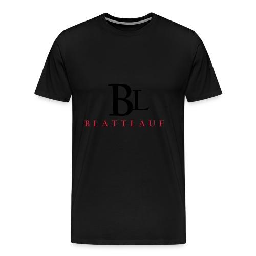 kleding logo in zwart rood 01 - Mannen Premium T-shirt