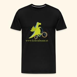 Musikdrache für dunklen Hintergrund - Männer Premium T-Shirt