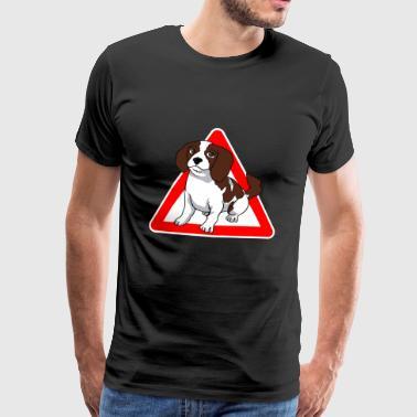 Cavalier King Charles Spaniel hund - Premium T-skjorte for menn