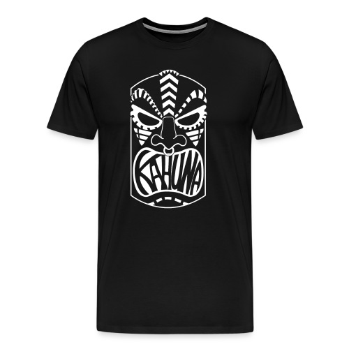 KAHUNA Tiki Kopf - Männer Premium T-Shirt