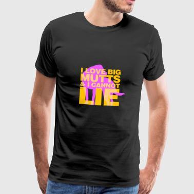 Jeg elsker store hunder - Premium T-skjorte for menn