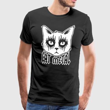 Cat Metal - Männer Premium T-Shirt