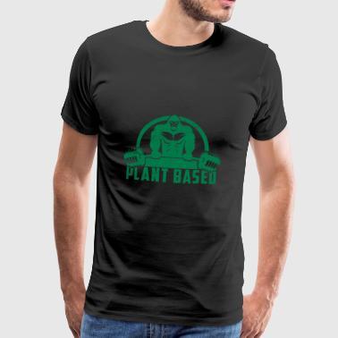 Plant Based Vegan Gorilla Gift - Men's Premium T-Shirt