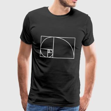 Fibonacci spiral matematyka pomysł na prezent Nerd - Koszulka męska Premium