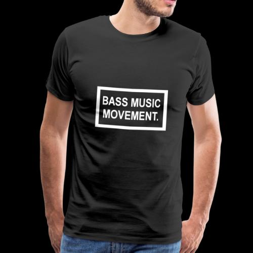 Bass Music Movement - White - Men's Premium T-Shirt