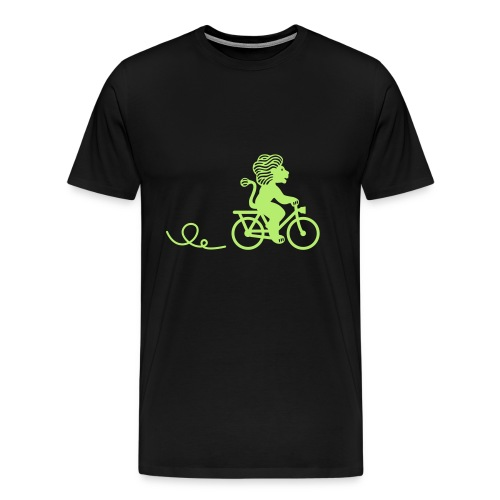 Züri-Leu beim Velofahren ohne Text - Männer Premium T-Shirt