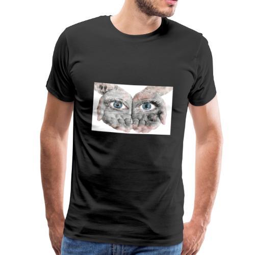 Die sehenden Hände durch Augen - Männer Premium T-Shirt