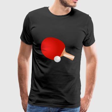 pöytätennis ping pong pöytätennis bat11 - Miesten premium t-paita
