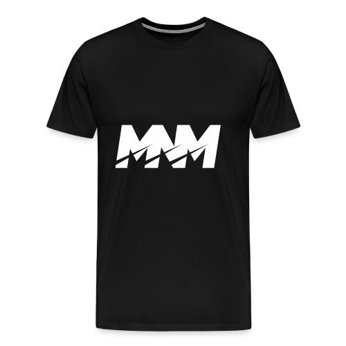 MNM WHITE SHARP Logo - Men's Premium T-Shirt