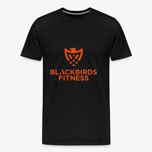 Blackbirds Fitness Logo orange - Männer Premium T-Shirt