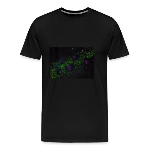 Grüne Milchstraße mit Planeten - Männer Premium T-Shirt