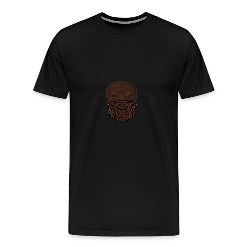 Totenkopf mit Wikingerbart - Männer Premium T-Shirt