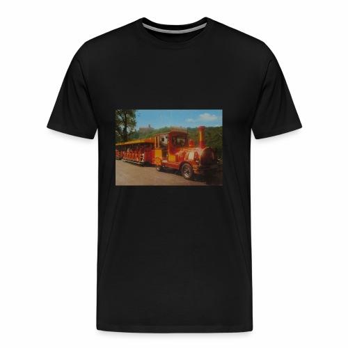 Alter Zug zur Wartburg in Eisenach um 1990 - Männer Premium T-Shirt