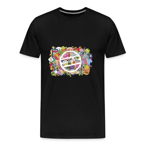 bancomatti doodle marchio bianco - Maglietta Premium da uomo