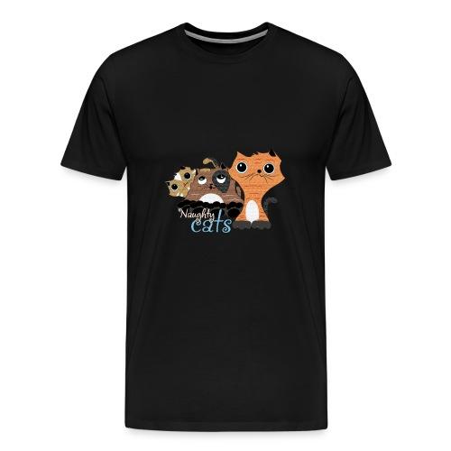 traviesos gatos divertidos - Camiseta premium hombre