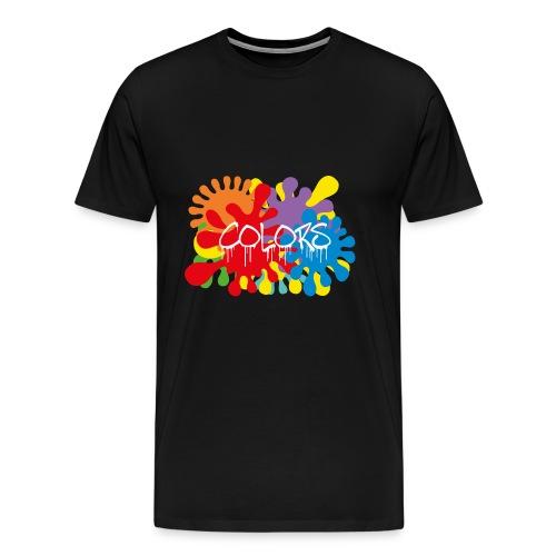 COLORS TACHES - T-shirt Premium Homme