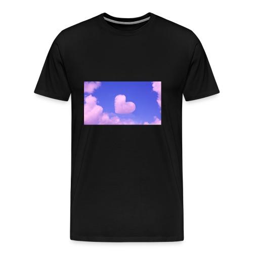 coeur nuage ciel rose - T-shirt Premium Homme