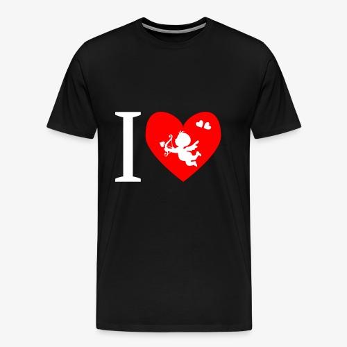 cupidon rouge blanc, I love - T-shirt Premium Homme