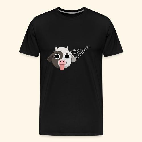 Kuh denkt, er wäre eine Katze - Männer Premium T-Shirt