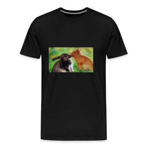 Zwilling kaninchen T-shirt - Männer Premium T-Shirt