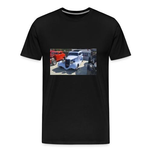 Turkos bil i Norrtälje - Premium-T-shirt herr