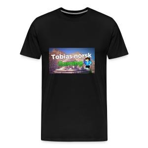 Tobias Norsk Gaming - Premium T-skjorte for menn