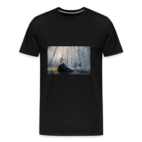 Perdido en el bosqu - Camiseta premium hombre