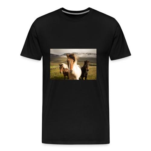 Islandpferde - Männer Premium T-Shirt