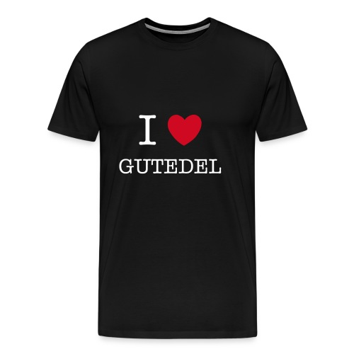 I LOVE GUTEDEL - Männer Premium T-Shirt