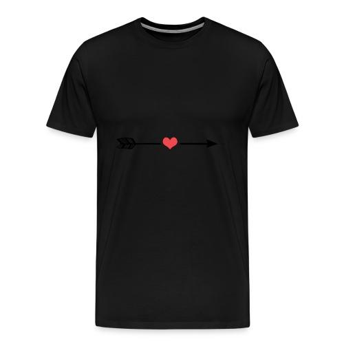Liebes Pfeil - Männer Premium T-Shirt
