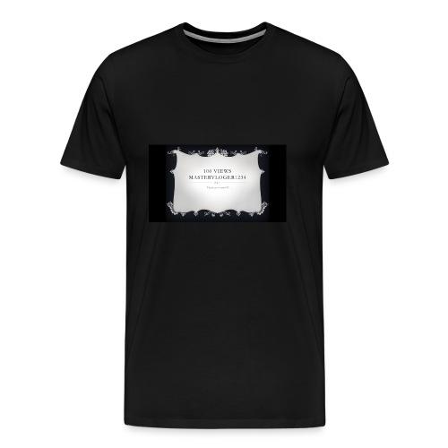 we hit 100 views - Men's Premium T-Shirt
