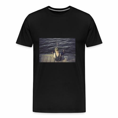 kleines Kind angelt - Männer Premium T-Shirt