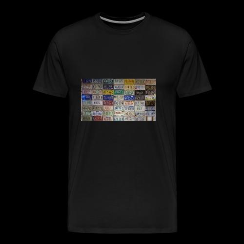Amerikanische Autokennzeichen - Männer Premium T-Shirt