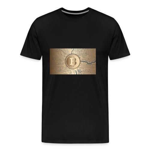bitcoin 3089728 1920 - Männer Premium T-Shirt