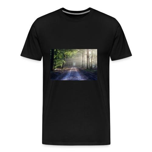 Super Ausblick im Wald Design - Männer Premium T-Shirt