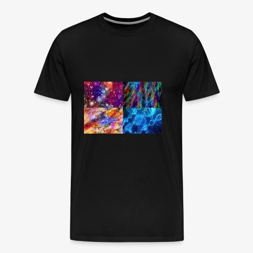Wissenschaft Goa Weltall Blitze Farben - Männer Premium T-Shirt