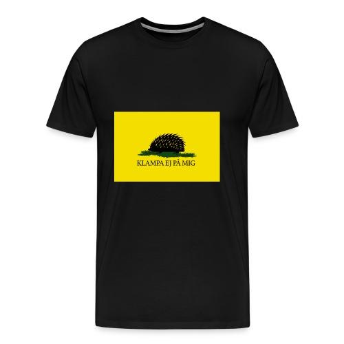 Klampa ej på mig - Premium-T-shirt herr