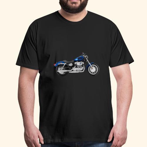 Altes Motorrad mit ein paar Freshen Sticker - Männer Premium T-Shirt