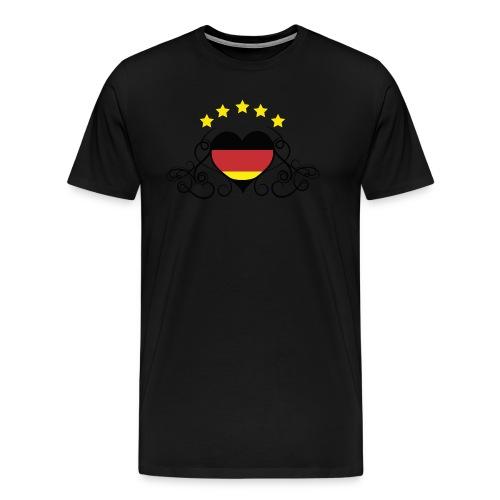 Tribal-Herz - Männer Premium T-Shirt