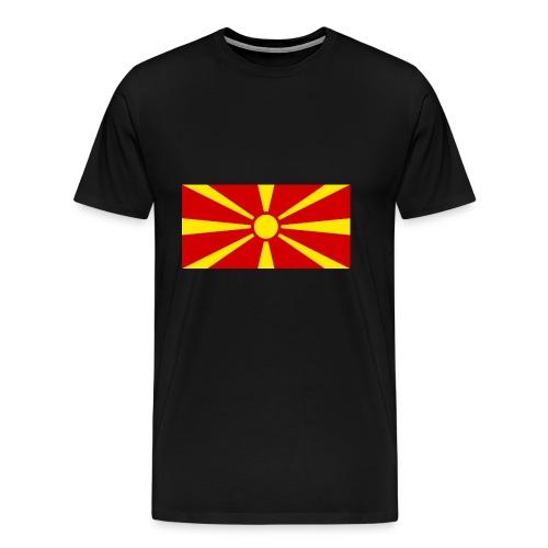 Macedonia Flag - Männer Premium T-Shirt