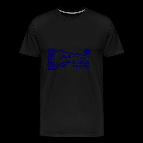 Italy Cinque Terre 2018 blue - Männer Premium T-Shirt