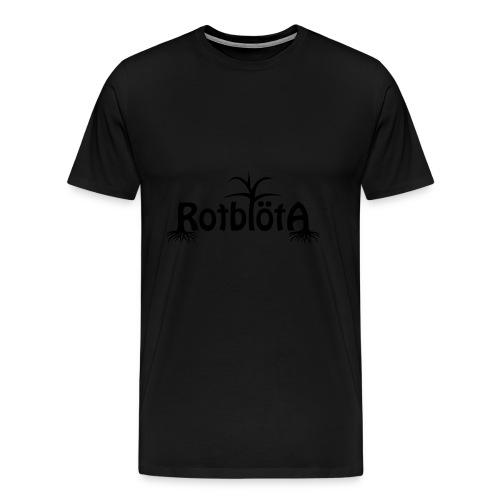 Rotblöta svart logo - Premium-T-shirt herr
