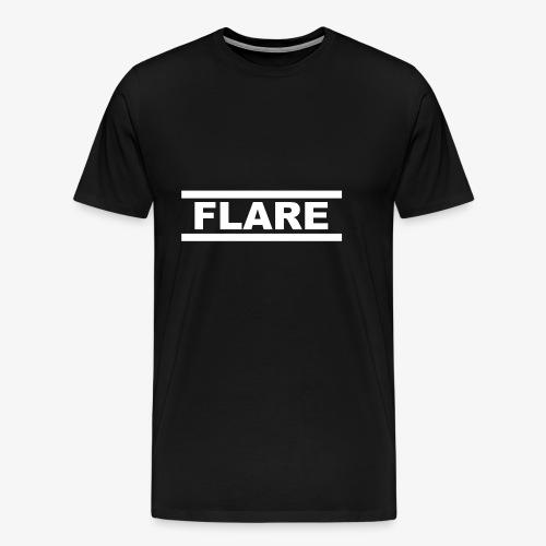 Black Hoodie - White logo - FLARE - Mannen Premium T-shirt
