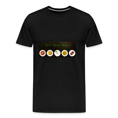 Essen, Schlafen und wiederholen - Männer Premium T-Shirt