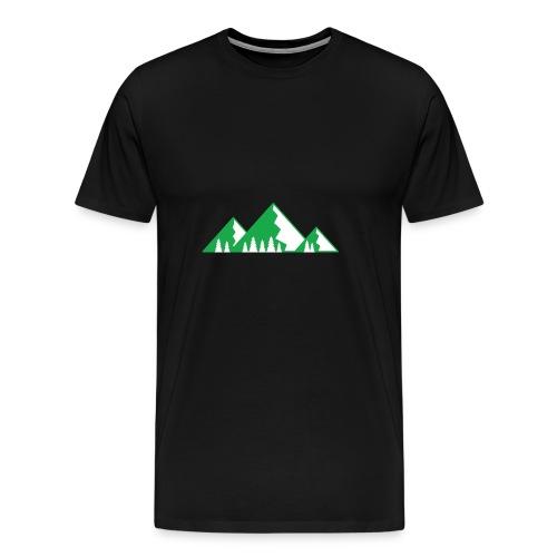 Berge mit Wald - Männer Premium T-Shirt