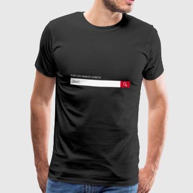 Haku olutta! - Miesten premium t-paita