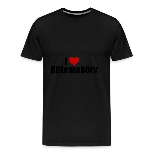 I Love Biltemakörv - Premium-T-shirt herr