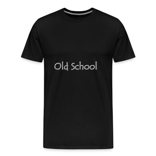 Old School Text - Men's Premium T-Shirt