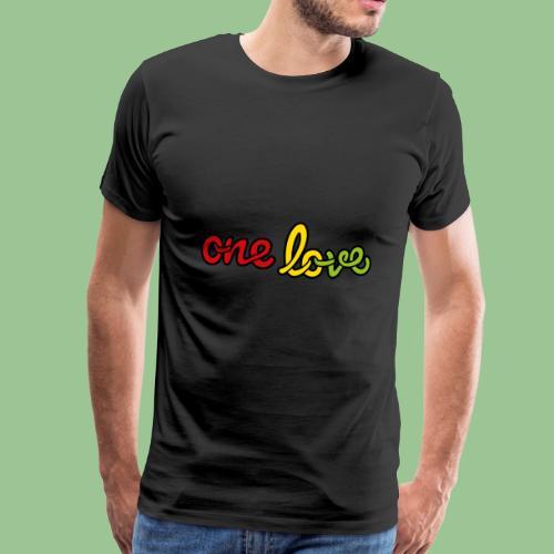 One Love - diff Colors - Jamaica Fan Shirt - Männer Premium T-Shirt